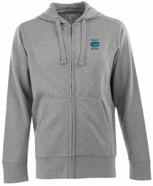 Florida Mens Signature Full Zip Hooded Sweatshirt (Color: Gray)
