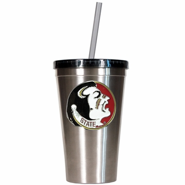 Florida State 16oz Stainless Steel Insulated Tumbler with Straw