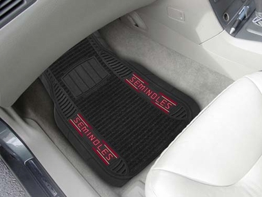Florida State 2 Piece Heavy Duty DELUXE Vinyl Car Mats