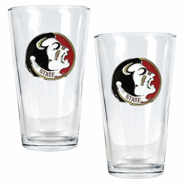 Florida State 2 Piece Pint Glass Set