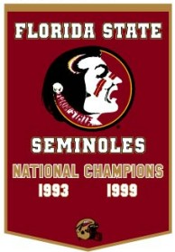 """Florida State 24""""x36"""" Dynasty Wool Banner"""