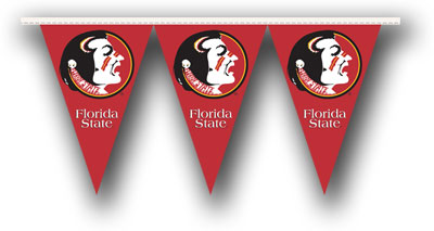Florida State 25 Foot String of Party Pennants (P)