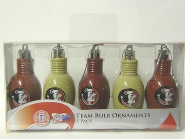 Florida State 5 Pack Bulb Ornaments
