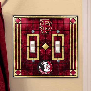 Florida State Art Glass Lightswitch Cover (Double)