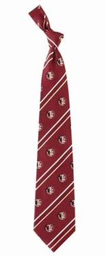 Florida State Cambridge Woven Silk Necktie