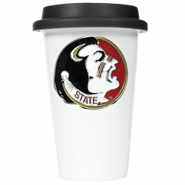 Florida State Ceramic Travel Cup (Black Lid)