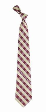 Florida State Check Poly Necktie