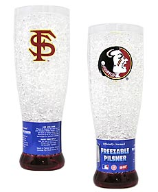 Florida State Crystal Pilsner Glass