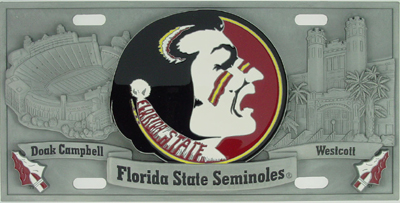 Florida State Deluxe Collector's License Plate