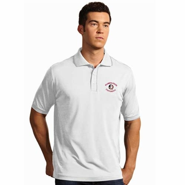 Florida State Mens Elite Polo Shirt (Color: White)