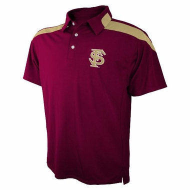 Florida State Embroidered Logo Polyester Polo Shirt