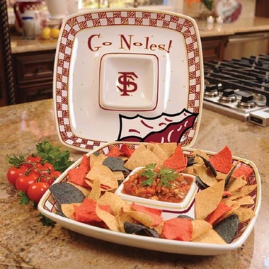 Florida State Gameday Ceramic Chip and Dip Platter