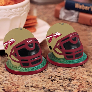 Florida State Helmet Ceramic Salt and Pepper Shakers