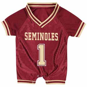 Florida State Infant Pounce Football Jersey Onesie - 0-3 Months