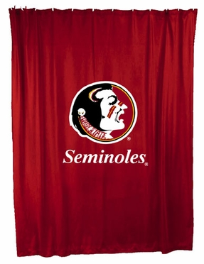 Florida State Jersey Material Shower Curtain