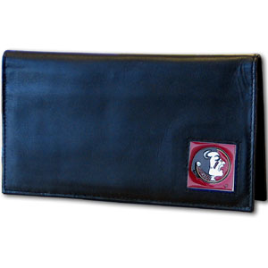 Florida State Leather Checkbook Cover (F)