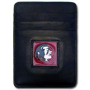 Florida State Leather Money Clip (F)
