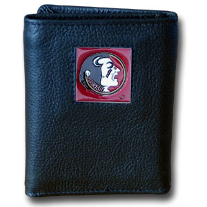 Florida State Leather Trifold Wallet (F)