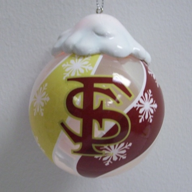 Florida State Light Up Glass Ball Ornament