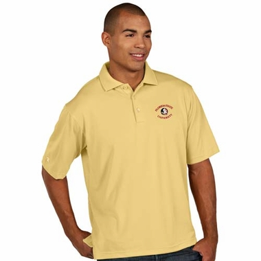 Florida State Mens Pique Xtra Lite Polo Shirt (Alternate Color: Gold)