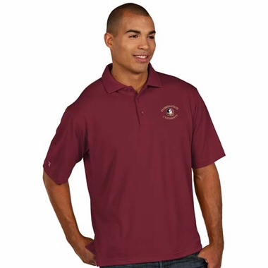 Florida State Mens Pique Xtra Lite Polo Shirt (Team Color: Maroon)