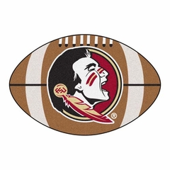 "Florida State ""Seminole"" Football Shaped Rug"