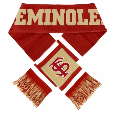 Florida State Seminoles 2012 Team Stripe Knit Scarf