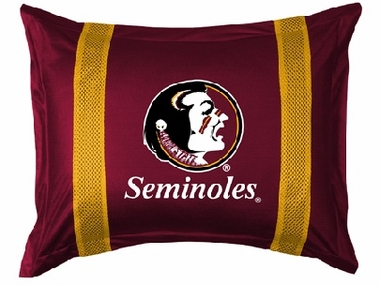 Florida State SIDELINES Jersey Material Pillow Sham