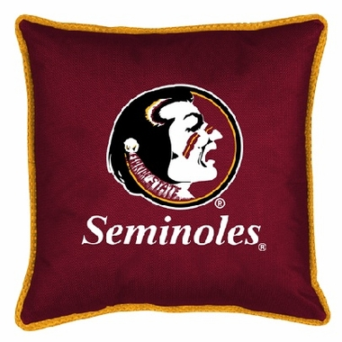 Florida State SIDELINES Jersey Material Toss Pillow