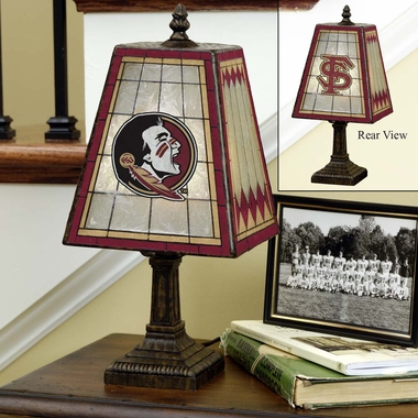 Florida State Small Art Glass Lamp