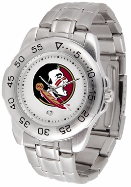 Florida State Sport Men's Steel Band Watch