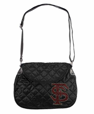 Florida State Sport Noir Quilted Saddlebag