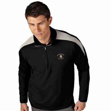 Florida State Mens Succeed 1/4 Zip Performance Pullover (Team Color: Black)