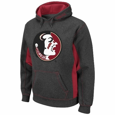 Florida State Turf Red Pullover Hooded Sweatshirt (Charcoal)