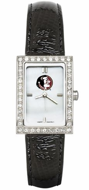 Florida State Women's Black Leather Strap Allure Watch