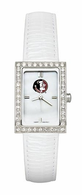 Florida State Women's White Leather Strap Allure Watch