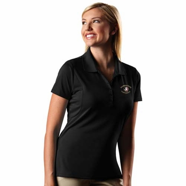 Florida State Womens Pique Xtra Lite Polo Shirt (Team Color: Black)