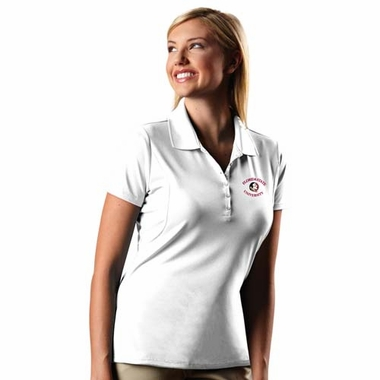 Florida State Womens Pique Xtra Lite Polo Shirt (Color: White)