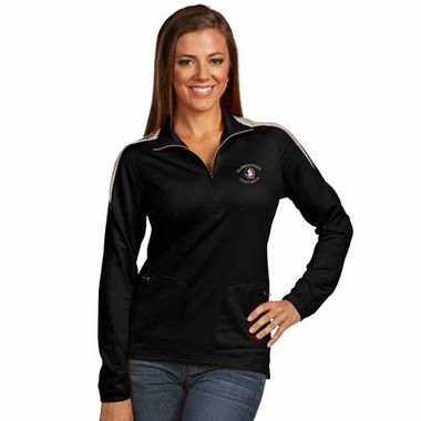 Florida State Womens Succeed 1/4 Zip Performance Pullover (Team Color: Black)
