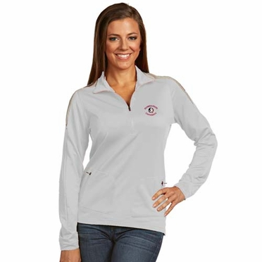 Florida State Womens Succeed 1/4 Zip Performance Pullover (Color: White)