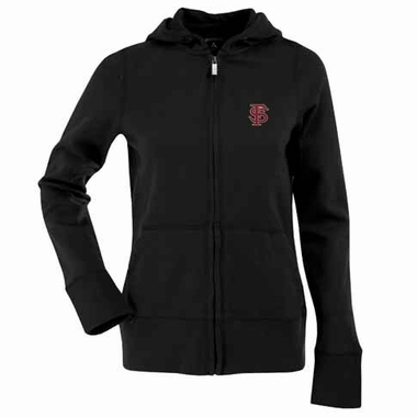 Florida State Womens Zip Front Hoody Sweatshirt (Alternate Color: Black)