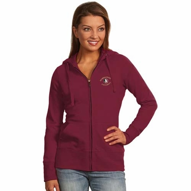 Florida State Womens Zip Front Hoody Sweatshirt (Color: Maroon)