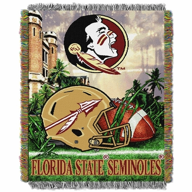 Florida State Woven Tapestry Throw Blanket