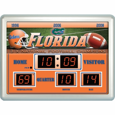 Florida Time / Date / Temp. Scoreboard