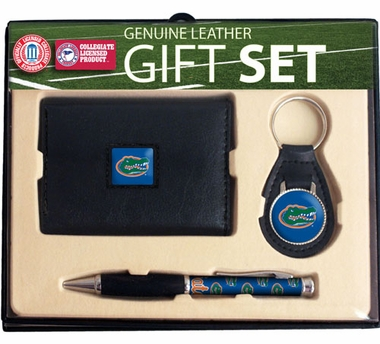 Florida Trifold Wallet Key Fob and Pen Gift Set