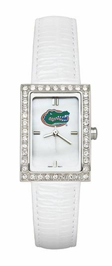 Florida Women's White Leather Strap Allure Watch