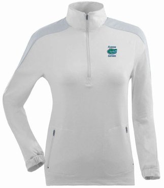 Florida Womens Succeed 1/4 Zip Performance Pullover (Color: White)