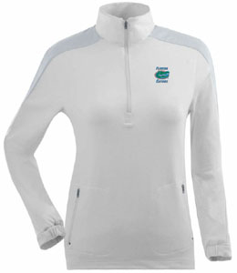 Florida Womens Succeed 1/4 Zip Performance Pullover (Color: White) - Small