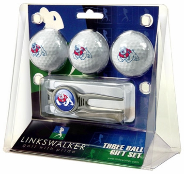 Fresno State 3 Ball Gift Pack With Kool Tool