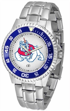 Fresno State Competitor Men's Steel Band Watch